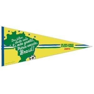 Brazil Gold World Cup 17 x 40 Premium Felt Pennant