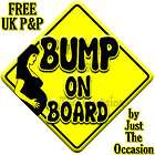 new maternity pregnancy bump baby on board car sign $ 4 69