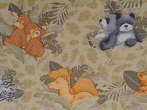 New Elephant Lion Fabric BTY Nursery Baby Animal Noahs Ark