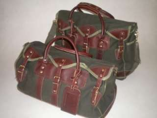 Quality Battenkill & Leather Shoulder & Duffle Bag Travel Luggage Set