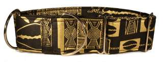 African Print Martingale Dog Collar