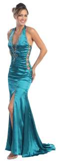 Prom Party Dress New Designer Long Tail Back Gown #5582