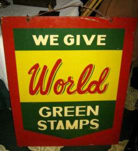 ANTIQUE WORLD STAMP GROCERY FOOD ART ADVERTISING METAL GENERAL STORE