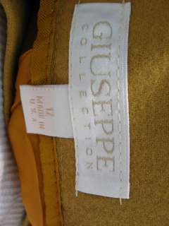 GIUSEPPE Gold Mustard Skirt Suit and Blazer size 12