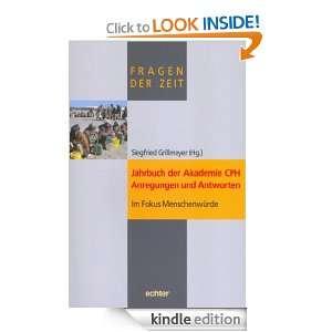Jahrbuch der Akademie CPH   Anregungen und Antworten Im Fokus