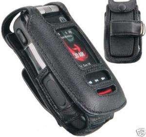 Verizon Motorola Barrage V860 W845 Quantico Leather Belt Clip Holster
