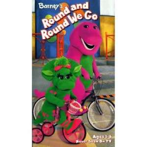 Barneys Round and Round We Go VHS Video Kids Learning