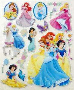 Princess Car Glass Wall Party 3D Decoration Sticker Decal Craft