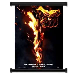 Ghost Rider Spirit of Vengeance Movie Fabric Wall Scroll