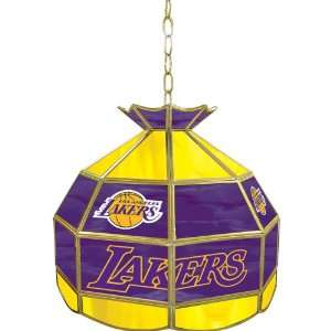 Lakers NBA 16 inch Tiffany Style Lamp   NBA1600 LAL