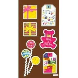 Metal Dimensional Stickers: Happy Birthday: Arts, Crafts
