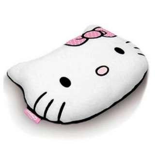 HELLO KITTY HEAD SHAPED BOW PLUSH EMBROIDED CUSHION BED ROOM DECOR