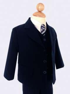 Brand New Boy Formal Navy Blue Dress Suit W/Tie size 12