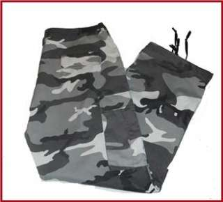 Mens Camouflage Camo BDU Pants/Trousers Military Army Hunting L (39 x