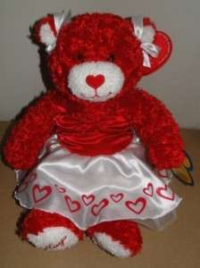 NEW BUILD A BEAR~HUGS & KISSES RED VALENTINE BEAR~NWT