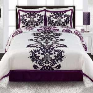 purple black white 9p baby crib bedding set for newborn