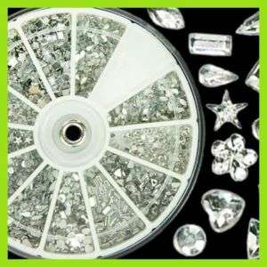 KT035 2400 Silver Nail Art Glitter Rhinestones Wheel NE