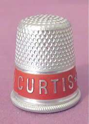 1928 Herbert HOOVER & CURTIS Political President Campaign THIMBLE