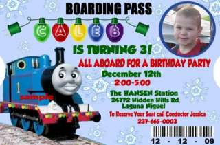 THOMAS The Train Birthday Party Invitations Christmas