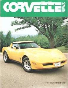 October November 1979 Corvette News 80 Vette Road America Portland