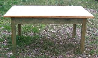 rustic primitive country pine farm table built to size