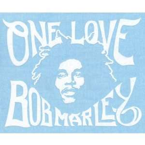 Bob Marley   One Love Large Cut Out Decal Automotive
