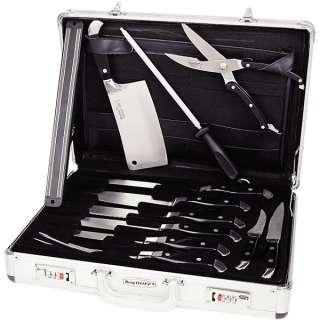 Berghoff Ergonomic Knife Set w/Travel Case   12 Piece 845033063253