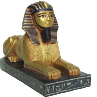 Egyptian Egypt Sphinx Statue Figurine Decor Gold 7 L