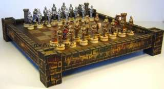 MEDIEVAL TIMES WARRIOR chess set 17 CASTLE Board
