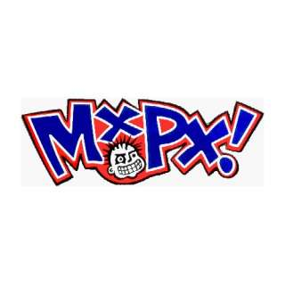 MXPX Logo with Face (Red, White, Blue & Black)   Sticker / Decal