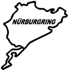 Nurburgring BIG 9 track sticker Decal BMW EVO A4 S4 A3