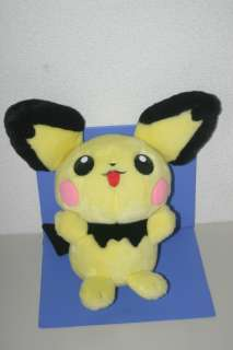 Pokemon PICHU Plush Doll BIG! TOMY JAPAN