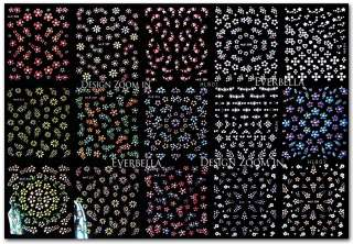 30 sheets 1500+ Nail Art Design Stickers Decal HL801