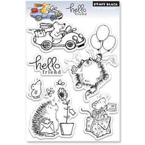 Penny Black Clear Stamps 5X7.5 Sheet Hello Friend