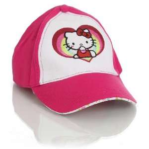 Pink Hello Kitty Rainbows And Hearts Baseball Hat Toys & Games