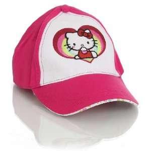 Pink Hello Kitty Rainbows And Hearts Baseball Hat Toys & Games