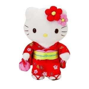 Hello Kitty   Temari Hello Kitty 8 Kimono Plush Toys