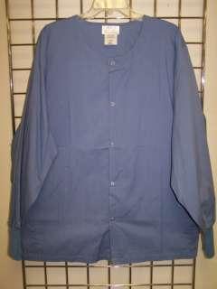 NEW Plus Size Medical Uniform SNAP Front Scrub Warmup Jacket 3X 5X 8