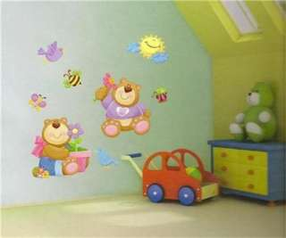 Bedroom on Nursery Childrens Kids Teddy Bear Bedroom Wall Stickers