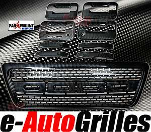 Ford F150 Black Carbon Fiber+Raptor Full Replacement Grille+4 Door