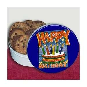 Boys   Birthday Cake Cookie Tin 1.5lb HB CKB16 S: Home