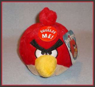 Angry Birds 5 RED Plush with Sound NEW