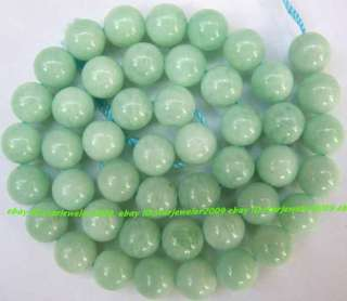 AA Natural Green Moonstone 9mm Round Gemstone Beads 15