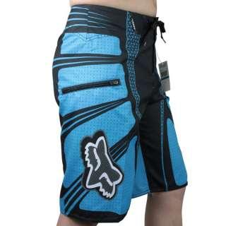 FOX Mens Surf Boardie Shorts BoardShorts BLUE SZ 30 32 34 36 38