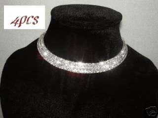 4pcs wholesale WEDDING BRIDAL PROM CHOKER NECKLACE