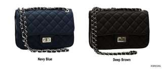 NEW Black Quilted Silver Chain Handbags Clutch Shoulder Crossbody Bags
