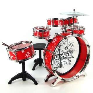 Children Educational Musical Drum Instrument Play Set Boy Girl Kid Red
