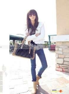Women Fashion Vintage Bucket Faux Fur Handbag Crossbody Shoulder Bag