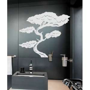Vinyl Wall Decal Sticker Tall Asian Bonsai Tree