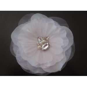 Handmade White Wedding Bridal Hair Flower Accessories 5